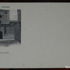 Postales: CACERES, CASA LLAMADA DEL SOL, FOT. ECHALUCE, SIN CIRCULAR Y SIN DIVIDIR, PAPELERIA ALCOYANA. Lote 286308428