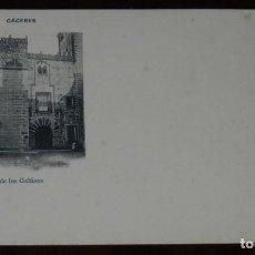 Postales: CACERES, CASA DE LOS GELFINES, FOT. ECHALUCE, SIN CIRCULAR Y SIN DIVIDIR, PAPELERIA ALCOYANA. Lote 286308983