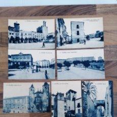 Postales: LOTE SIETE POSTALES CÁCERES - FOTOTIPIA THOMAS 4-5-7-8-9-13-17. Lote 287074848