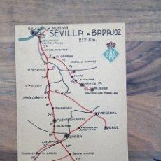 Postales: POSTAL MAPA SEVILLA - BADAJOZ. Lote 287078518