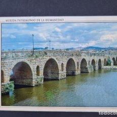 Cartoline: LOTE AB BADAJOZ.ARJETA POSTAL. MERIDA. PATRIMONIO DE LA HUMANIDAD. 3.- PUENTE ROMANO. Lote 288378143