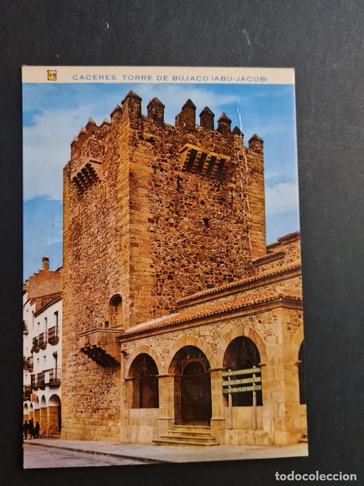 LOTE AB CACERES. POSTAL TORRE DE BUJACO ABU-JACOB ED. PERGAMINO (Postales - España - Extremadura Moderna (desde 1940))
