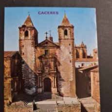 Postales: LOTE AB CACERES.PLAZA DE SAN JORGE E IGLESIA DE FRANCISCO JAVIER EDICIONES PARIS. Lote 288450478