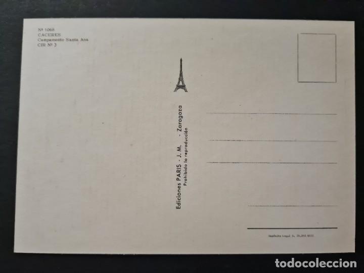 Postales: LOTE AB CACERES.POSTAL CACERES CAMPAMENTO DE SANTA ANA CIR Nº3 - Foto 2 - 288450728