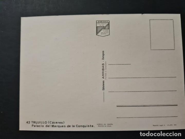 Postales: LOTE AB CACERES. POSTAL TRUJILLO PALACIO DEL MARQUES DE LA CONQUISTA - Foto 2 - 288453588