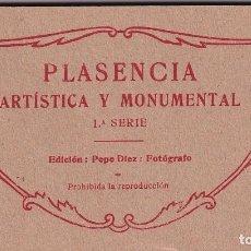 Postais: PLASENCIA ARTÍSTICA Y MONUMENTAL 1ª SERIE EDICIÓN PEPE DIEZ FOTÓGRAFO. 20 POSTALES COMPLETO. Lote 288540983