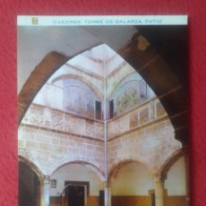 Postales: POSTAL POST CARD Nº 57 CÁCERES TORRE CASA DE GALARZA PATIO MAISON HOUSE, ED. PERGAMINO EXTREMADURA... Lote 293415038