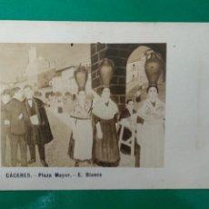Postales: CACERES, PLAZA MAYOR. E. BLASCO.. Lote 295298653