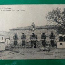 Postales: BROZAS (CÁCERES).- PLAZA NUEVA O DE LOS TOROS.. Lote 295299658