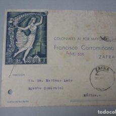 Postales: TARJETA ZAFRA ( BADAJOZ ). Lote 295491663