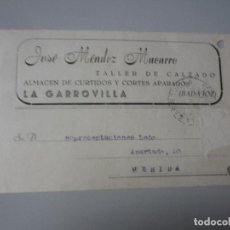Postales: TARJETA LA GARROVILLA( BADAJOZ ). Lote 295492848