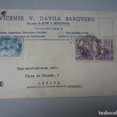 Postales: TARJETA QUINTANA DE LA SERENA ( BADAJOZ ). Lote 295493253