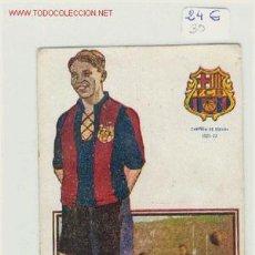 Coleccionismo deportivo: FUTBOL POSTAL DE JOSE SAMITIER F.C.BARCELONA AÑOS 20. Lote 1516891