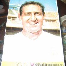 Coleccionismo deportivo: ANTIGUA POSTAL REAL MADRID - GENTO - LIGA TEMPORADA 1967 - 68 - BERGAS INDUSTRIAS GRAFICAS - SIN CIR. Lote 12057690