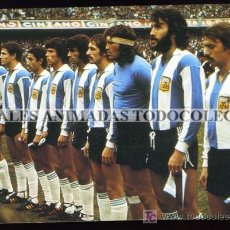 Coleccionismo deportivo: POSTAL DE LA SELECCION DE FUTBOL DE ARGENTINA 1978 . Lote 26302265