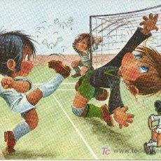 Coleccionismo deportivo: POSTAL ILUSTRADA POR GABRIEL PARA EL REAL MADRID CLUB DE FUTBOL. Lote 26589148