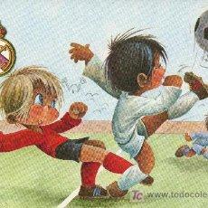 Coleccionismo deportivo: POSTAL ILUSTRADA POR GABRIEL PARA EL REAL MADRID CLUB DE FUTBOL. Lote 14710311