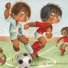 Coleccionismo deportivo: POSTAL ILUSTRADA POR GABRIEL PARA EL REAL MADRID CLUB DE FUTBOL. Lote 26589154