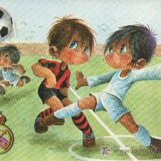 Coleccionismo deportivo: POSTAL ILUSTRADA POR GABRIEL PARA EL REAL MADRID CLUB DE FUTBOL. Lote 27368712