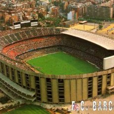 Coleccionismo deportivo: POSTAL ESCUDO DE ORO - ESTADI FUTBOL CLUB BARCELONA - VISTA AÉREA. Lote 8036540