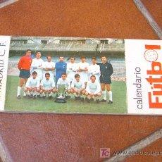 Coleccionismo deportivo: CALENDARIO FUTBOL DEL REAL MADRID DE 1969. POSTAL POR MES. COMPLETO. Lote 22145038