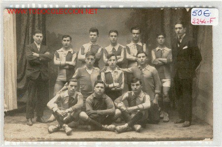 (2244-F) POSTAL EQUIPO FUTBOL MATARO?AÑOS 20 (Coleccionismo Deportivo - Postales de Deportes - Fútbol)