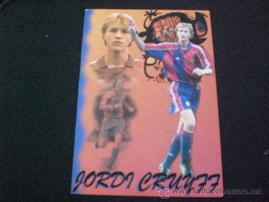 POSTAL DE JORDI CRUYFF BARCELONA BARÇA FUTBOL (Coleccionismo Deportivo - Postales de Deportes - Fútbol)