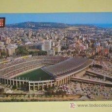Coleccionismo deportivo: BARCELONA VISTA AEREA DEL ESTADIO DE FUTBOL DEL C. F. BARCELONA 1970. Lote 27253201