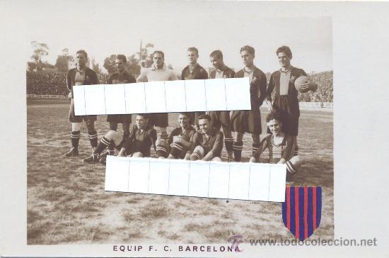 F.C. BARCELONA 1922 23 INCREIBLE COLECCION 12 POSTALES FOTOGRAFICAS LES CORTS FUTBOL BARCA UNA JOYA! (Coleccionismo Deportivo - Postales de Deportes - Fútbol)