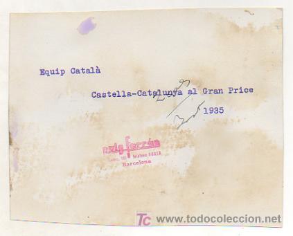Coleccionismo deportivo: FOTOGRAFÍA DE LOS JUGADORES DE BALONCESTO DEL EQUIPO CATALÁN. PARTIDO CASTILLA - CATALUNYA. 1935 - Foto 2 - 15608861
