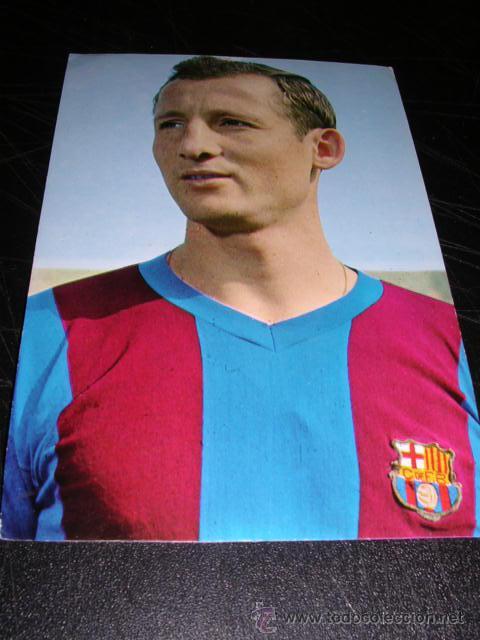 9 GALLEGO ( CF BARCELONA ) FOTO SEGUI (Coleccionismo Deportivo - Postales de Deportes - Fútbol)