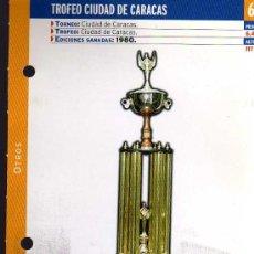Coleccionismo deportivo: FICHA COLECCIONABLE DEL DIARIO AS - TROFEO CIUDAD DE CARACAS - 1980 REAL MADRID. Lote 16334907