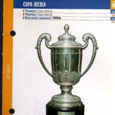 Coleccionismo deportivo: FICHA COLECCIONABLE DEL DIARIO AS - COPA IBERIA - 1994 REAL MADRID. Lote 130478815