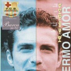 Coleccionismo deportivo: FICHA DEL F.C. BARCELONA GILLERMO AMOR . Lote 16812476