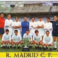 Coleccionismo deportivo: INTERESANTE POSTAL FUTBOL - REAL MADRID C.F. - CAMPEON DE LIGA TEMPORADA 1967-68 - FOTO DEL EQUIPO. Lote 22538138
