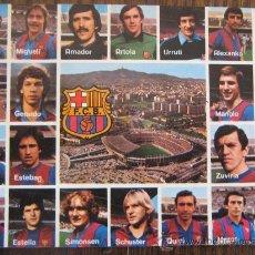 Coleccionismo deportivo: BARÇA ANTIGUA POSTAL DEL FC BARCELONA SIN CIRCULAR CARRASCO QUINI MIGUELI URRUTI SCHUSTER MIREN FOTO. Lote 18991749