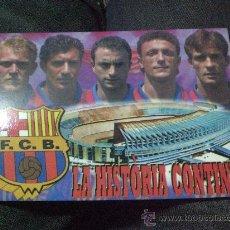 Coleccionismo deportivo: POSTAL F C BARCELONA BARÇA LA HISTORIA CONTINUA KODRO FIGO CUELLAR POPESCU PROSINEKY. Lote 19773215