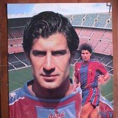 Coleccionismo deportivo: FIGO, FUTBOL CLUB BARCELONA, POSTAL GIGANTE DE 34X24 CMS. Lote 174050620