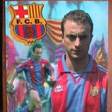 Coleccionismo deportivo: ANGEL CUELLAR, FUTBOL CLUB BARCELONA, POSTAL GIGANTE DE 34X24 CMS. Lote 43018907