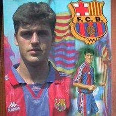 Coleccionismo deportivo: ROGER, FUTBOL CLUB BARCELONA, POSTAL GIGANTE DE 34X24 CMS. Lote 94116968