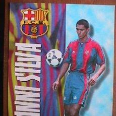 Coleccionismo deportivo: GIOVANNI SILVA, FUTBOL CLUB BARCELONA, POSTAL GIGANTE DE 34X24 CMS. Lote 43959447