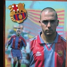 Coleccionismo deportivo: IVAN DE LA PEÑA, FUTBOL CLUB BARCELONA, POSTAL GIGANTE DE 34X24 CMS. Lote 94116427