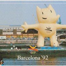 Coleccionismo deportivo: COLECCION OLIMPICA BARCELONA 92 LA FIESTA LLEGADA BANDERA OLIMPICA,EDITA FOTOS JULIAN FOTO COOB 92. Lote 20918984