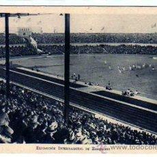 Coleccionismo deportivo: EXPOSICIÓN INTERNACIONAL DE BARCELONA. INAUGURACIÓN DEL ESTADIO DE FUTBOL. BARÇA. CAMPO FUTBOL.. Lote 23334785