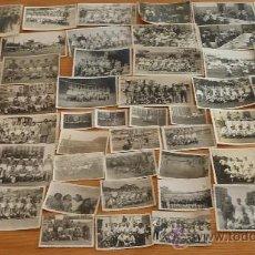 Coleccionismo deportivo: LOTE DE 52 FOTOS ORIGINALES DE FUTBOL DE AÑOS 30S 40S. EQUIPOS CATALANES, DE BARCELONA.. Lote 210831621