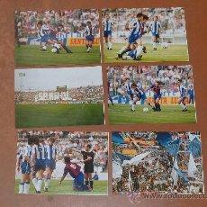 Coleccionismo deportivo: LOTE DE 6 FOTOGRAFIAS ORIGINALES DE FUTBOL. PARTIDO BARÇA - ESPANYOL DEL 31/05/1992. DREAM TEAM. . Lote 25149250