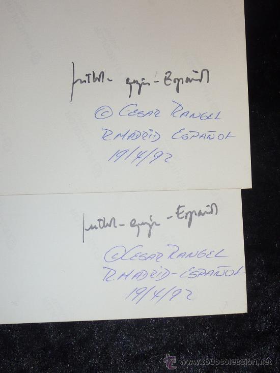 Coleccionismo deportivo: Lote de 2 fotografias originales de futbol. Partido Español - Real Madrid del 19/04/1992. Espanyol. - Foto 2 - 25149256