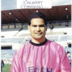 Coleccionismo deportivo: FOTO DE CHILAVERT CON EL ZARAGOZA - GOLY. Lote 23164608