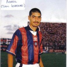 Coleccionismo deportivo: FOTO DE ABREU CON EL SAN LORENZO ALMAGRO - GOLY. Lote 23164662