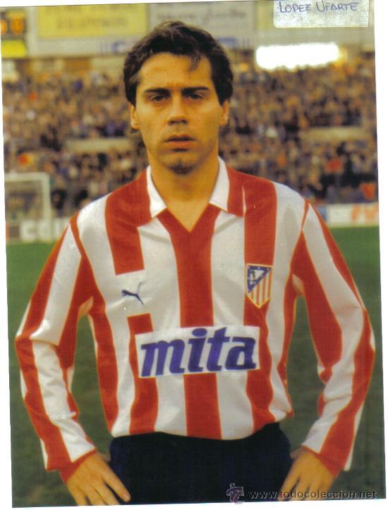 FOTO DE LOPEZ UFARTE CON EL AT.MADRID - GOLY (Coleccionismo Deportivo - Postales de Deportes - Fútbol)